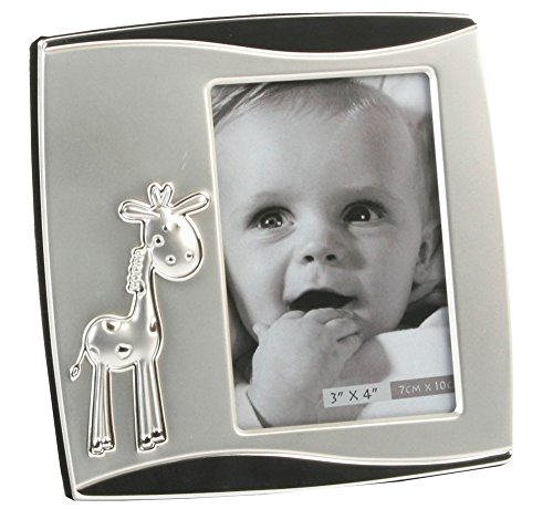 Baby Giraffe Silver Plated Two Tone Photo Frame By Haysom Interiors - 1