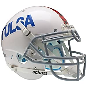 TULSA GOLDEN HURRICANE Schutt AiR XP Full-Size AUTHENTIC Football Helmet (WHITE) by ON-FIELD