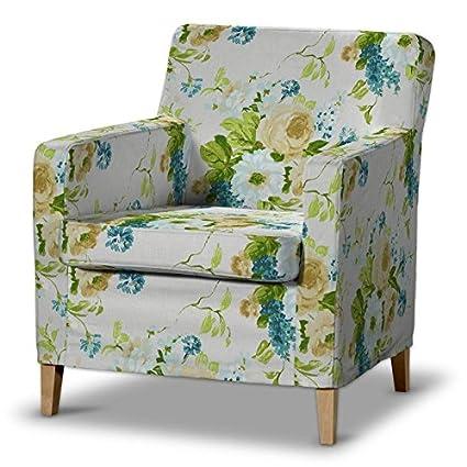 FRANC-TEXTIL 621-141-15 Karlstad funda de sillón, sillón funda, Karlstad sillón, Mirella, azul/beige