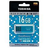 TOSHIBA 東芝 USBフラッシュメモリ 16GB Windows/Mac対応 並行輸入品 (16GB, ブルー)