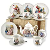 Alice in Wonderland Tea Set By Reutter Porcelain Dishwasher Safe (Lge)