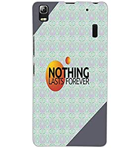 LENOVO A7000 PLUS NOTHING Back Cover by PRINTSWAG