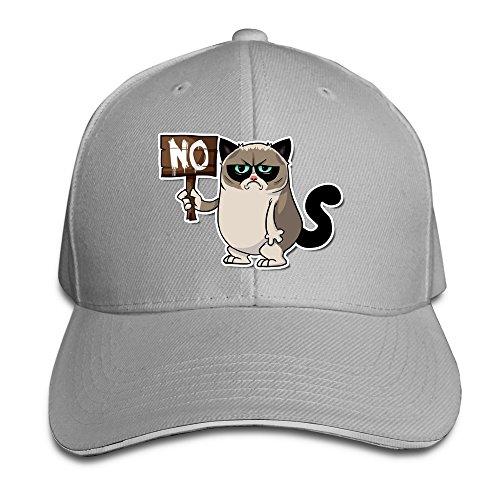 NJ Apparel NO Nope Grumpy Cat UV Protect Cap With Sandwich Peak Ash