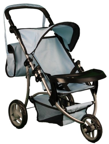 Mommy & Me Boy Doll Stroller With Adjustable Handles & Free Carriage Bag front-149911