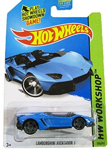 Hot Wheels - 2014 HW Workshop - HW All Stars 196/250 - Lamborghini Aventador J (blue)