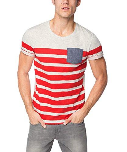 edc by ESPRIT 076CC2K010, T-Shirt Uomo, Rosso (Cherry Red), Medium (Taglia Produttore: M)