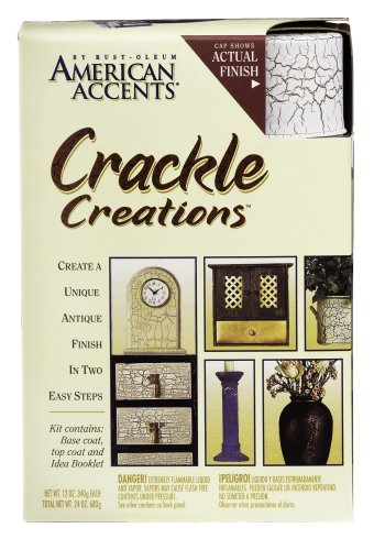 Rust Oleum AMERICAN ACCENTS Crackle Creations Kit, Venitian White