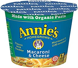 Annie\'s Homegrown Mac and Cheese Micro Cups: Single Pack - Classic - 2.01 oz - 12 Pack