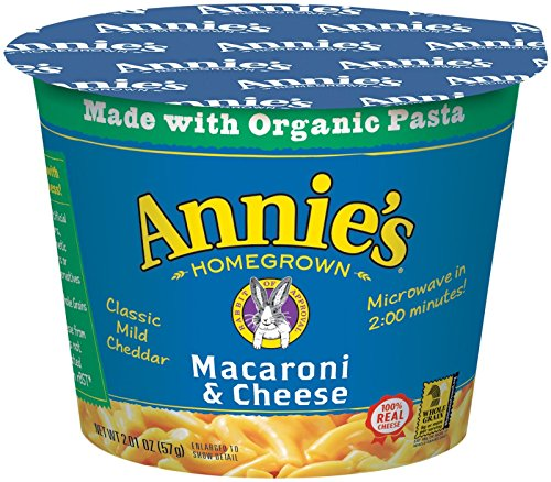 Annie's Homegrown Mac and Cheese Micro Cups: Single Pack - Classic - 2.01 oz - 12 Pack (Mac And Cheese Single Servings compare prices)