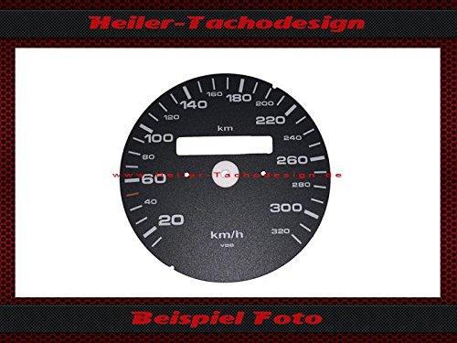 Tachoscheibe Porsche 911 964 993 ohne TKZ 320 Km/h
