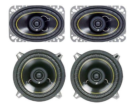 "2) New Kicker Ds46 4X6"" 100W + 2) Kicker Ds40 4"" 100W Car Audio Speakers 2 Pair"