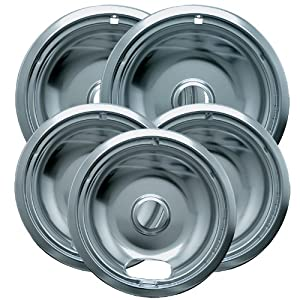 Range Kleen12565X Drip Bowl Economy Set with 3 Small 6-Inch and 2 Large 8-Inch