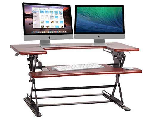 Halter ED-600 Preassembled Height Adjustable Desk Sit / Stand Elevating Desktop - Cherry (Adjustable Standing Desk compare prices)