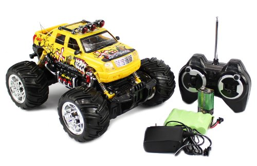 see 116 rc cadillac escalade monster truck rc remote control car with rechargeable batteries
