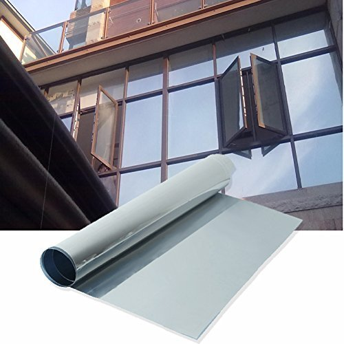 Merssavo 50x100cm Silver Reflective Window Film One Way Mirror Privacy Tint Stickers Heat Control Mirrored Glass by Merssavo