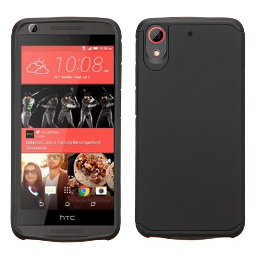 Click to buy HTC Desire 625 (Cricket) Case, BornTech Dual Layer Shockproof Armor Protector Cover Case, Phone Case Accessory HTC 625 (Black/Black) - From only $44.66