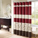 Madison Park Serene Shower Curtain - Red - 72x72""