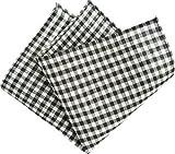 【D+art's】ポケットチーフ/麻ギンガムチェック柄