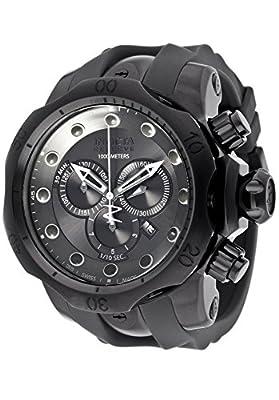 Invicta Men's 11964 Venom Reserve Chronograph Silver Grey Dial Grey Polyurethane Watch