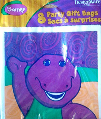 Barney Party Gift Bags (8) - 1