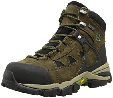 Timberland PRO Men's Hyperion Waterproof Safety Toe Work Boot,Olive Brown Nubuck,7 M US