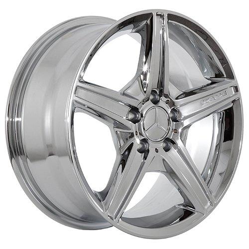 Wheels 19 inch mercedes wheels rims chrome set of 4 for Mercedes benz 19 inch rims