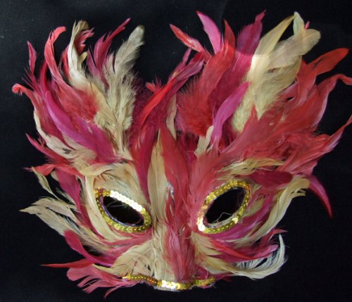 Cat Mask Crazy Feather Venetian Mask Mardi Gras Masquerade Halloween Costume