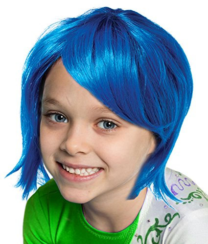 Costume Adventure Blue Joyful Pixie Character Costume Wig For Kids Or Adults
