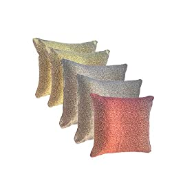 AAZEEM Glitter Cushion Cover Pack of 5