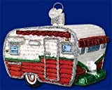 3.25″ Old World Christmas Glass Travel Trailer Camper Van Ornament #46041