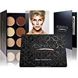 Aesthetica Cosmetics Cream Contour and Highlighting Makeup Kit - Contouring Foundation / Concealer Palette - Vegan, Cruelty Free & Hypoallergenic - St