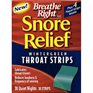 Breathe Right Snore Relief Throat Strips 30 Ct