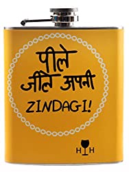 Happy Hours Stainless Steel Hip Flask
