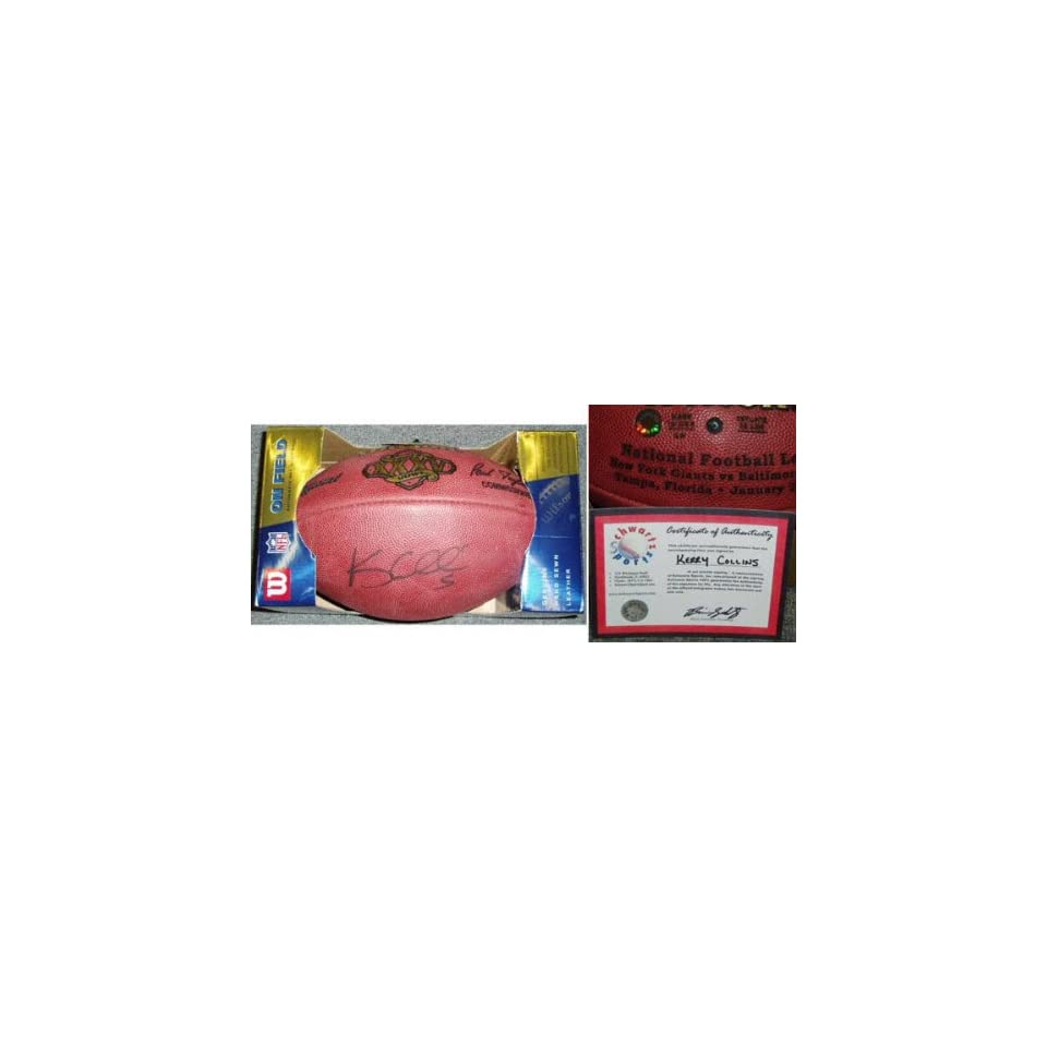 Kerry Collins Autographed Wilson NFL Game Football