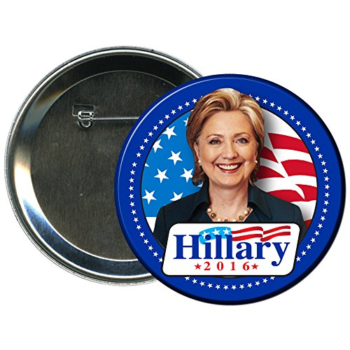 Hillary Clinton-09 Round 2016 Campaign Button (Election Buttons compare prices)