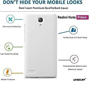 Unistuff™ Matte Finish Hard Case Back Cover for Redmi Note Prime (White)