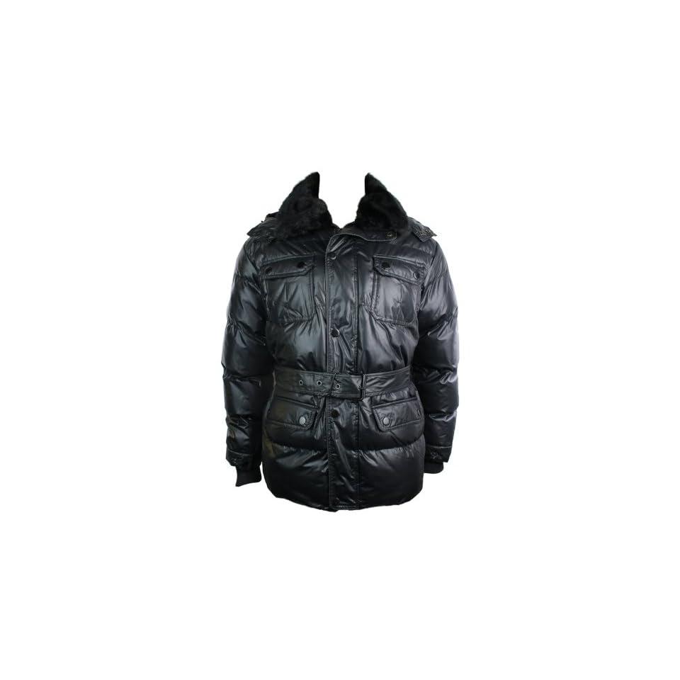 Winter Kapuze Herrenjacke Warm Abtrennbares Mantel Fell 1JTKF3lc