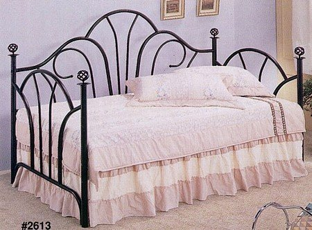 Black Metal Fan Back Daybed(Link Spring And Mattress Sold Separately) front-744837