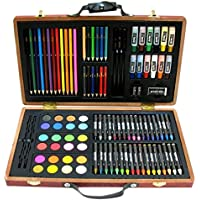101-Pc Art Set with Wooden Carrying Case