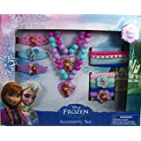 Disney Frozen Elsa and Anna Girls Hair and Jewelry Accessory 15 Piece Gift Set