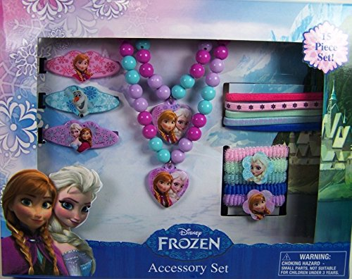 Disney Frozen Elsa and Anna Girls Hair and Jewelry Accessory 15 Piece Gift Set - 1