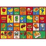 "Kids Rug ABC Fruit Area Rug 39"" X 58"""