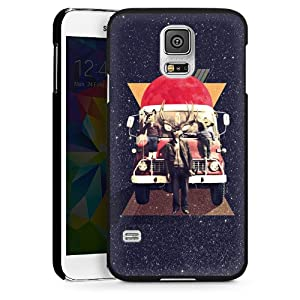 Galaxy S5 Case Cover Shell Hard Case black - El Camion: Electronics
