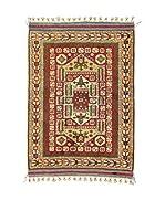 Eden Carpets Alfombra Antik Rojo/Multicolor 155 x 120 cm