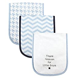Luvable Friends Baby Burp Cloths for Boys, Thank Heaven
