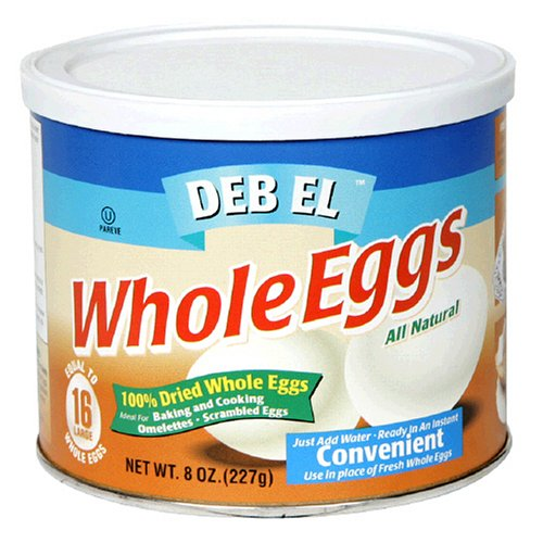 Deb-El Powdered Whole Eggs, 8-Ounce Containers (Pack of 6)