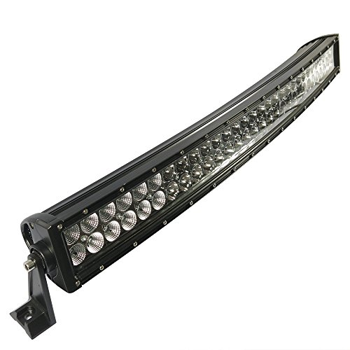 180W 30 Inches Curved Long Led Work Lights Bar Combo Beam For Jeep Cabin/Boat/Suv/Truck/Car/Atv/Vehicles/Automative/Jeep/Marine Off-Road Bulb Lamp Light Fog Lighting Exterior