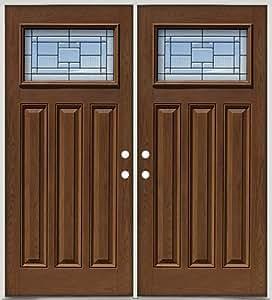 Fiberglass Front Double Doors Craftsman 28 Patina Pre