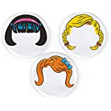 Fred & Friends DINNER DO'S Girl Hairstyle Plates, Set of 3