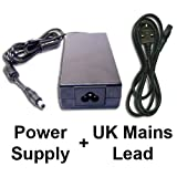 Power Supply + Mains Cable for Toshiba SATELLITE PRO C660-1LP